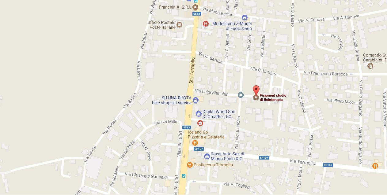 Mappa google Fisiomed